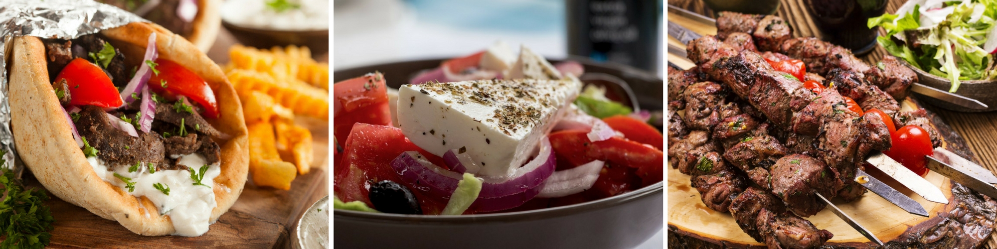 Enjoy Greek Salad, Gyros, Souvlaki, Spanakopita, Loukaniko and more!